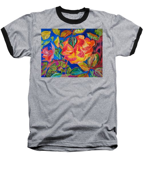 Baseball T-Shirt featuring the painting Blossoms Aglow by Meryl Goudey