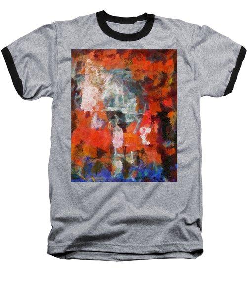 Baseball T-Shirt featuring the digital art Blows Away In The Wind by Joe Misrasi