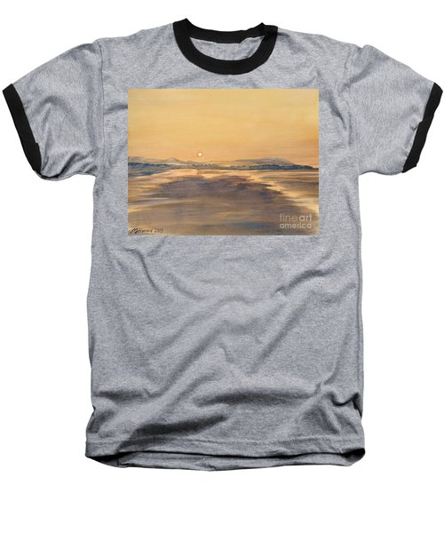 Baseball T-Shirt featuring the painting Blue Anchor Sunset by Martin Howard