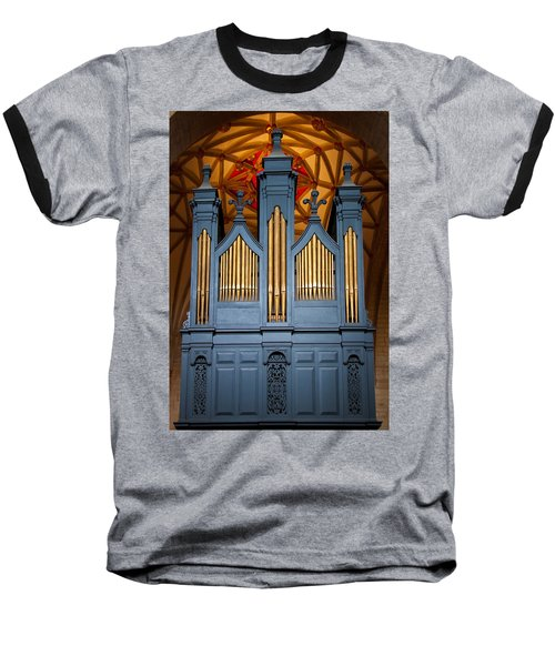 Blue And Gold Music Baseball T-Shirt