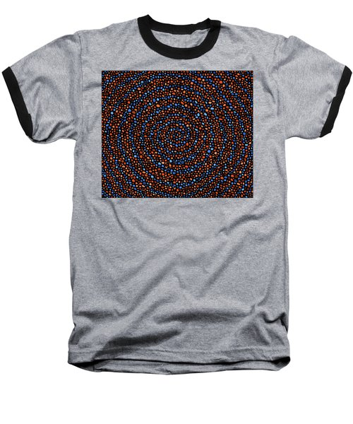 Blue And Orange Circles Baseball T-Shirt