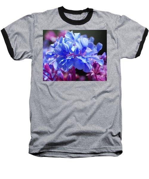 Baseball T-Shirt featuring the photograph Blue And Purple Flowers by Matt Harang