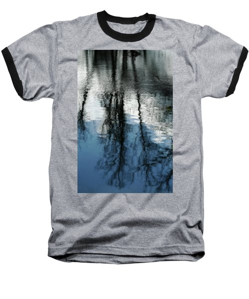 Blue And White Reflections Baseball T-Shirt