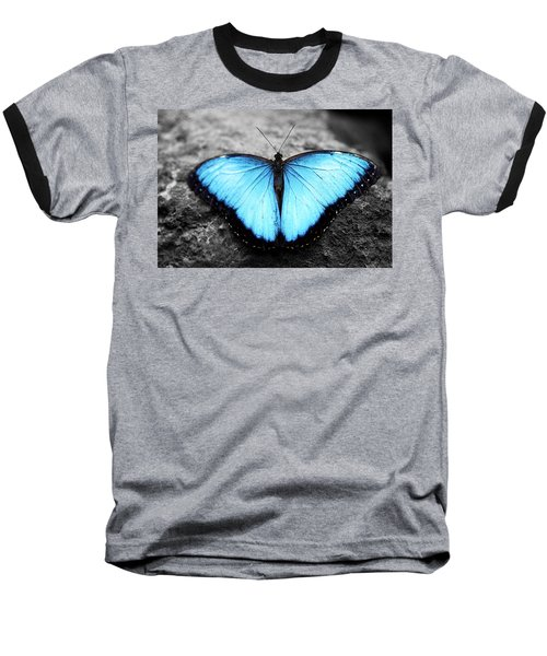 Blue Angel Butterfly 2 Baseball T-Shirt