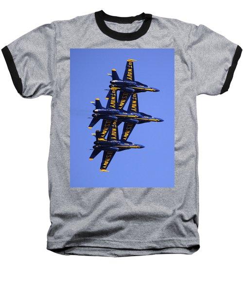 Blue Angels II Baseball T-Shirt by Bill Gallagher