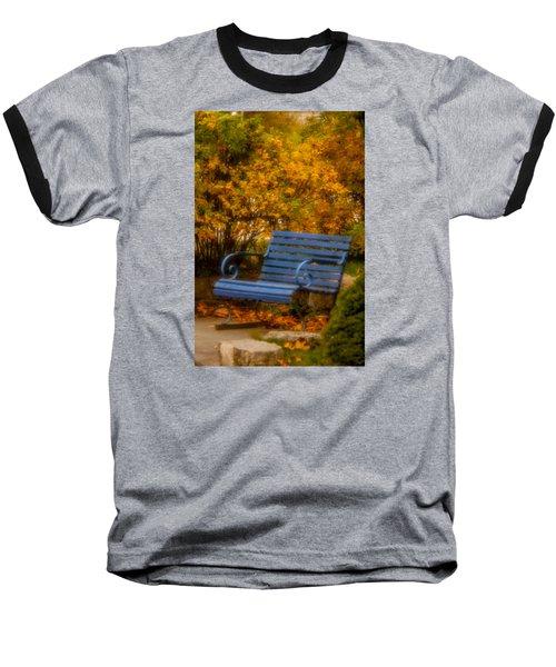Blue Bench - Autumn - Deer Isle - Maine Baseball T-Shirt