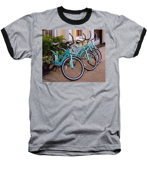 Blue Bikes Baseball T-Shirt