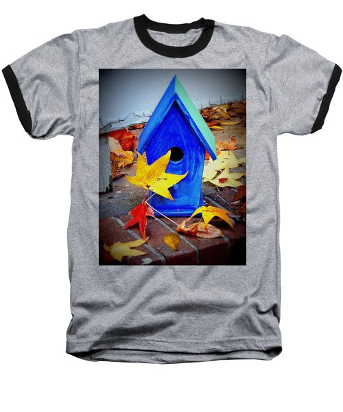 Baseball T-Shirt featuring the photograph Blue Bird House by Rodney Lee Williams