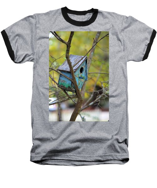 Baseball T-Shirt featuring the photograph Blue Birdhouse by Gordon Elwell