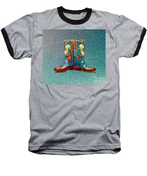 Blue Boots Baseball T-Shirt