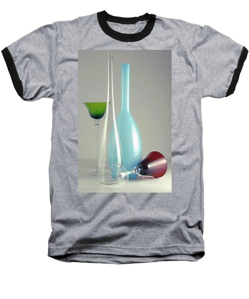 Baseball T-Shirt featuring the photograph Blue Bottle #2 by Elf Evans