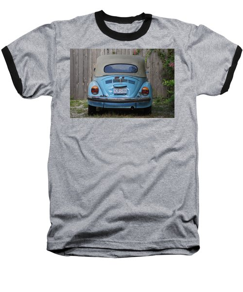 Blue Bug Baseball T-Shirt by Debi Demetrion