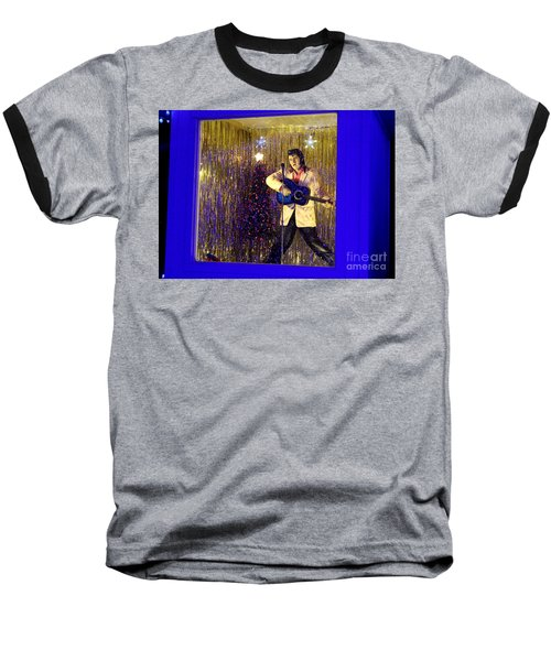 Blue Christmas Without Elvis Baseball T-Shirt