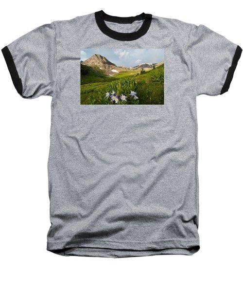 Handie's Peak And Blue Columbine On A Summer Morning Baseball T-Shirt