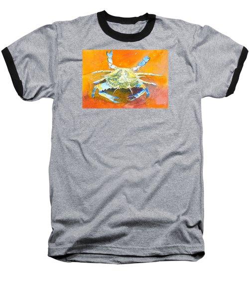 Blue Crab Baseball T-Shirt by Anne Marie Brown