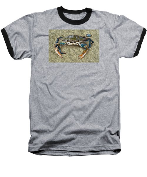 Blue Crab Confrontation Baseball T-Shirt