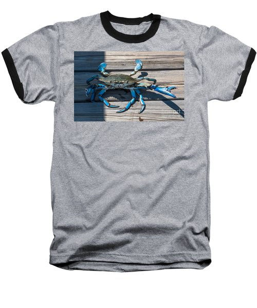 Blue Crab Pincher Baseball T-Shirt