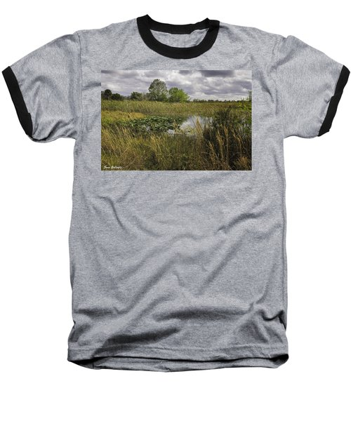 Blue Cypress Wetlands Baseball T-Shirt