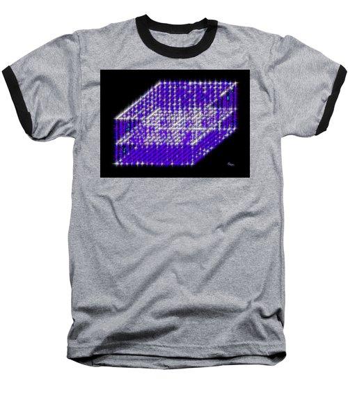 Blue Diamond Grid Baseball T-Shirt