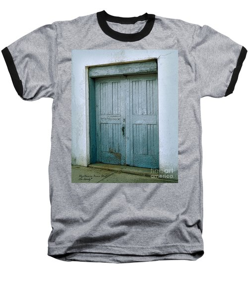 Blue Doors On Brewer Street Baseball T-Shirt