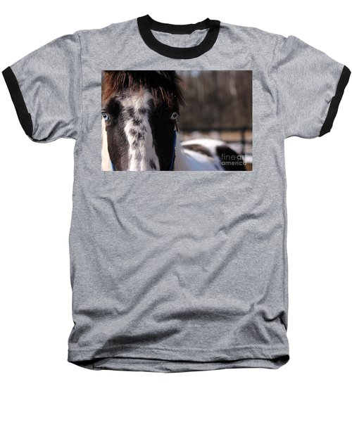 Blue Eye Stare Baseball T-Shirt