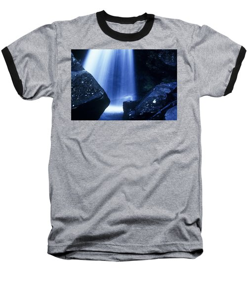 Baseball T-Shirt featuring the photograph Blue Falls by Rodney Lee Williams