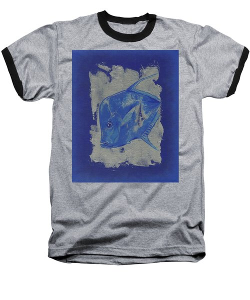 Blue Fish Baseball T-Shirt