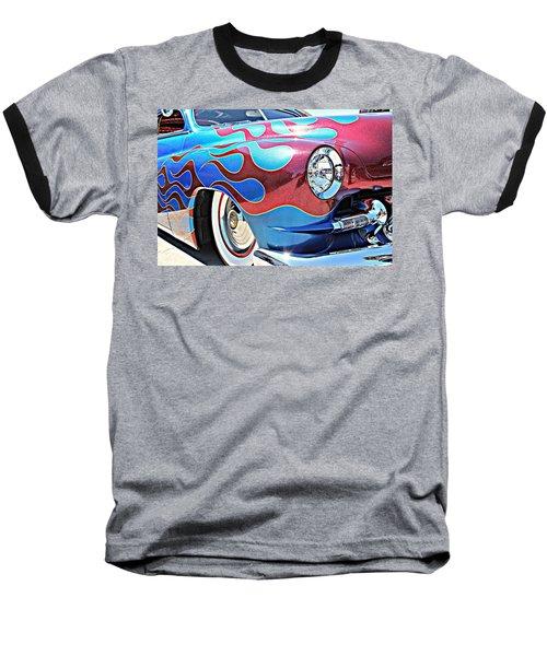 Blue Flamed Merc Baseball T-Shirt