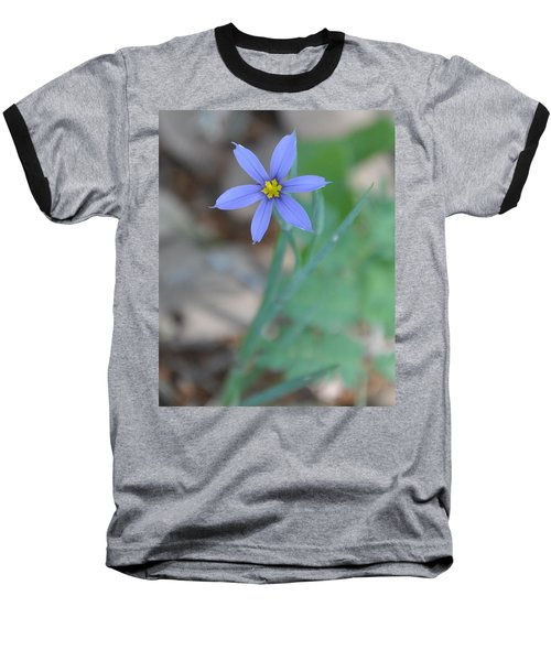 Blue Flower Baseball T-Shirt
