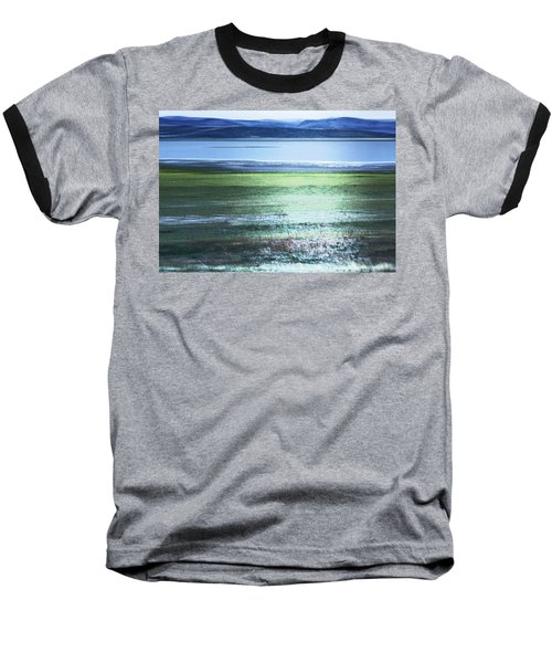 Blue Green Landscape Baseball T-Shirt