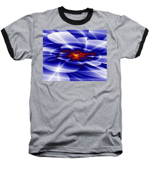 Baseball T-Shirt featuring the digital art Blue by Hai Pham