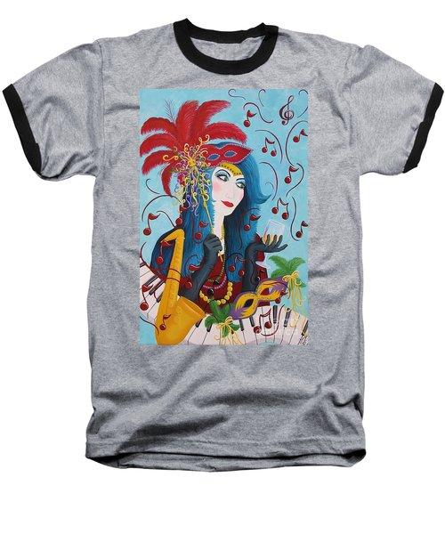 Blue Haired Lady Baseball T-Shirt