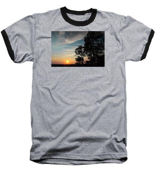 Baseball T-Shirt featuring the photograph Blue Heaven Sunset by Julie Andel