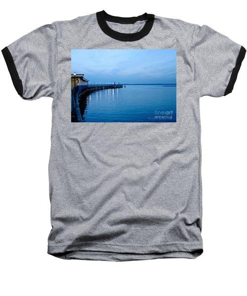 Blue Light Horizon Baseball T-Shirt by Carol F Austin