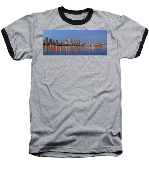 Baseball T-Shirt featuring the photograph Blue Hour At False Creek Vancouver Bc Canada by JPLDesigns