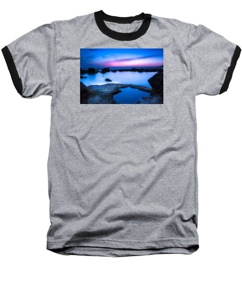 Blue Hour Baseball T-Shirt by Edgar Laureano