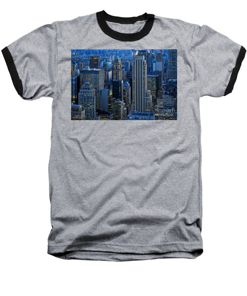 Blue Hour In New York City Usa Baseball T-Shirt