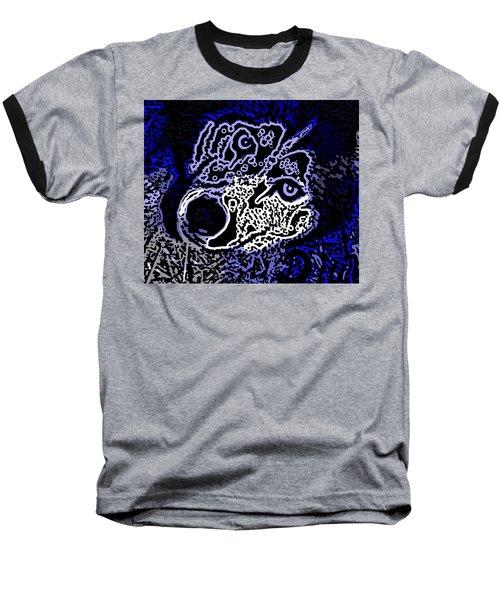 Blue Husky Baseball T-Shirt