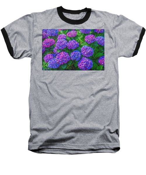 Baseball T-Shirt featuring the photograph Blue Hydrangea by Hanny Heim