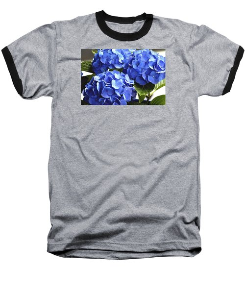 Baseball T-Shirt featuring the photograph Blue Hydrangea by Lehua Pekelo-Stearns