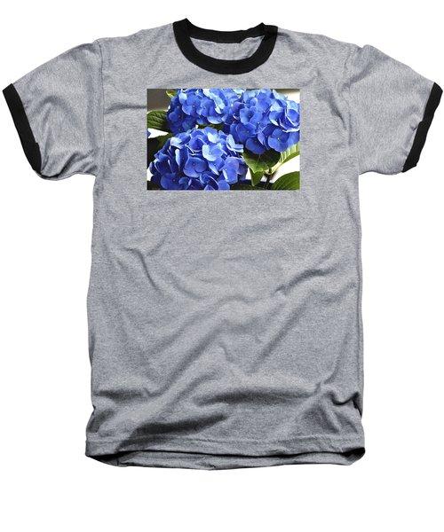Blue Hydrangea Baseball T-Shirt