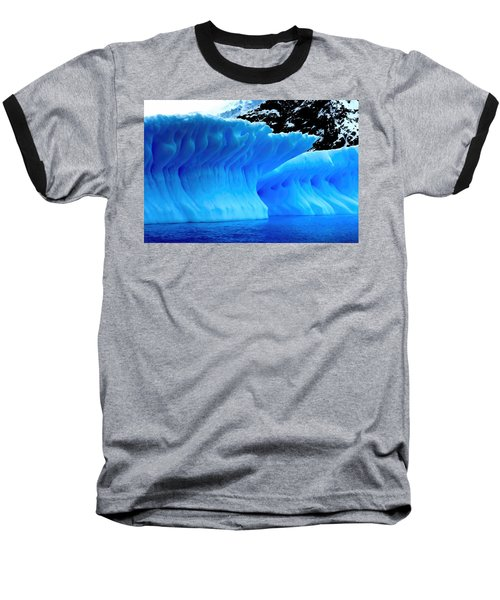 Blue Iceberg Baseball T-Shirt by Amanda Stadther