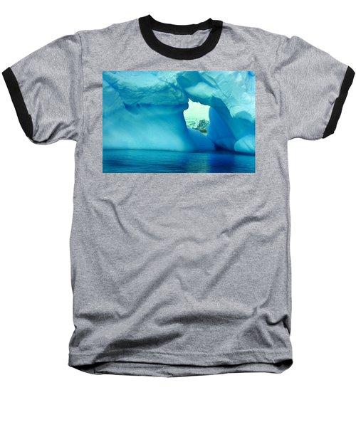 Blue Iceberg Antarctica Baseball T-Shirt by Amanda Stadther