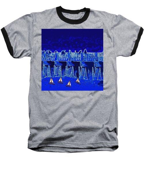 Blue II Toy Sailboats In Lake Worth Baseball T-Shirt by David Mckinney