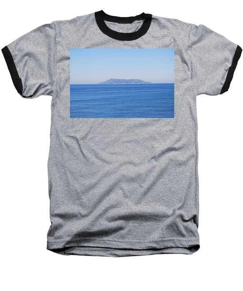 Baseball T-Shirt featuring the photograph Blue Ionian Sea by George Katechis