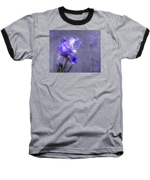 Blue Iris Baseball T-Shirt by Lena Auxier