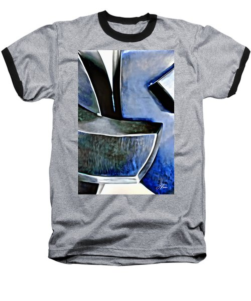 Blue Iron Baseball T-Shirt by Joan Reese