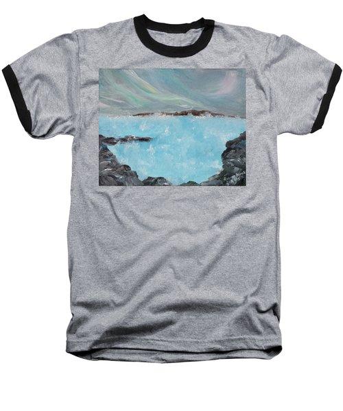 Blue Lagoon Iceland Baseball T-Shirt by Judith Rhue