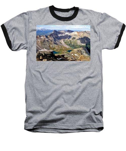 Blue Lakes Beauty Baseball T-Shirt by Jeremy Rhoades