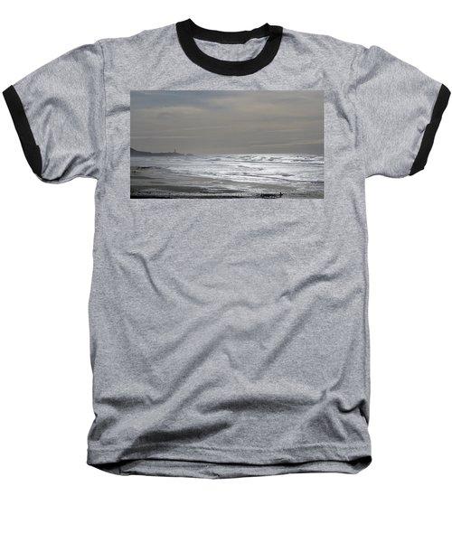 Blue Lighthouse View Baseball T-Shirt by Susan Garren